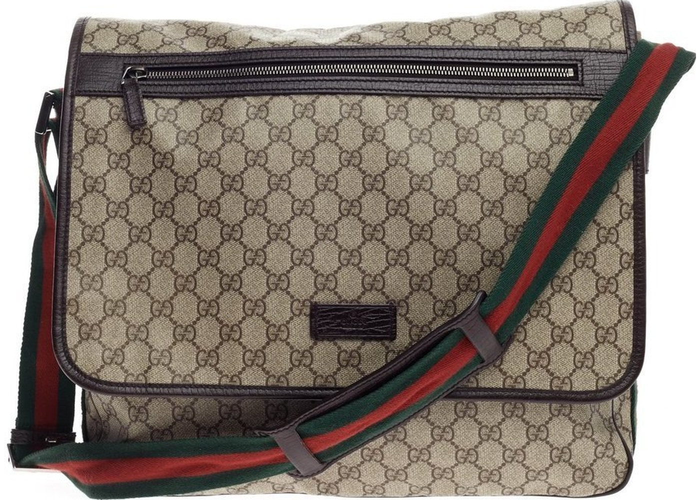 f7dc8ea6f74 Sell. or Ask. View All Bids. Gucci Web Strap Messenger GG Supreme Large  Brown