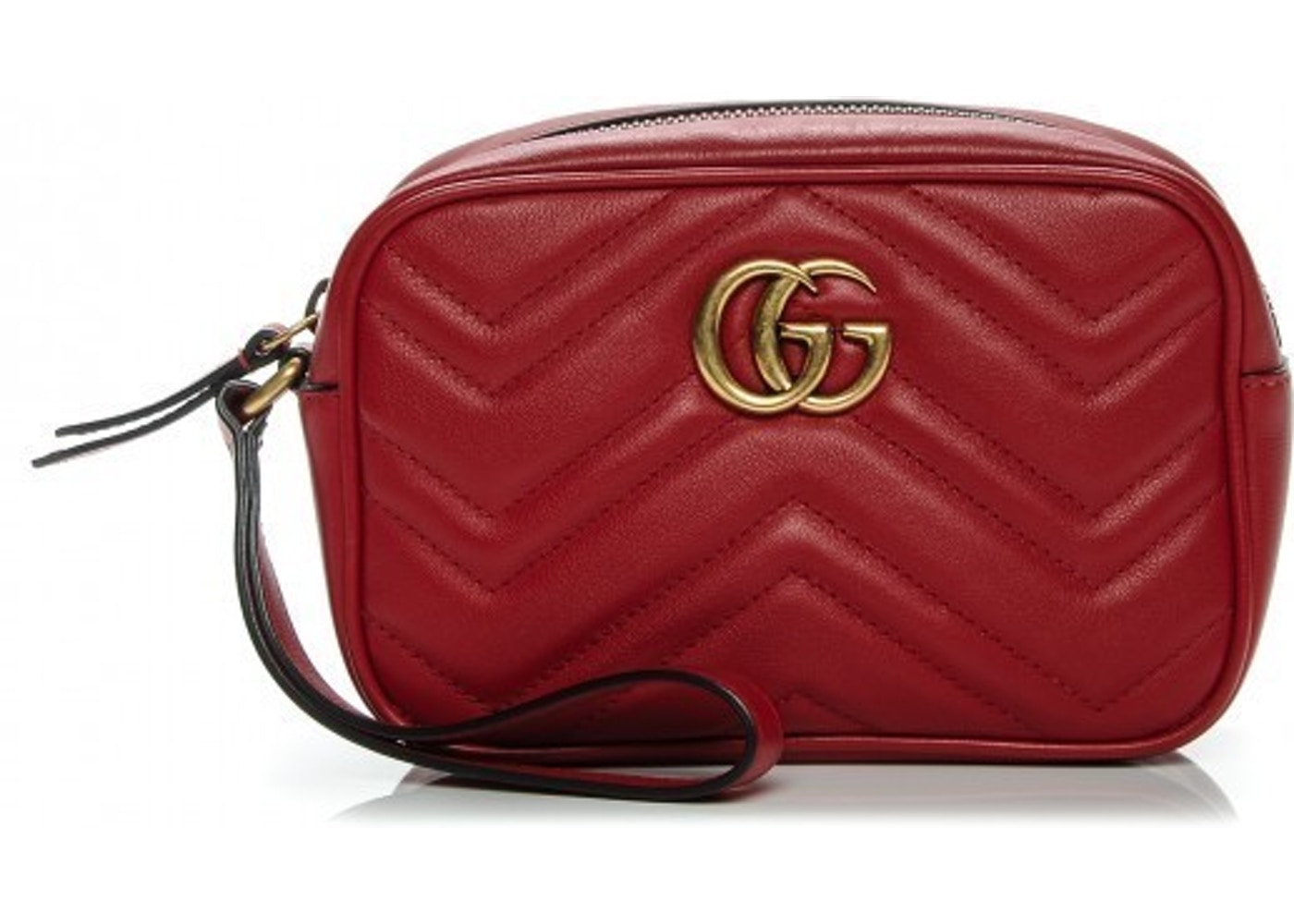 2a8b4c98beb3 Sell. or Ask. View All Bids. Gucci Wrist Wallet Marmont Wallet Matellase GG  Logo Hibiscus Red