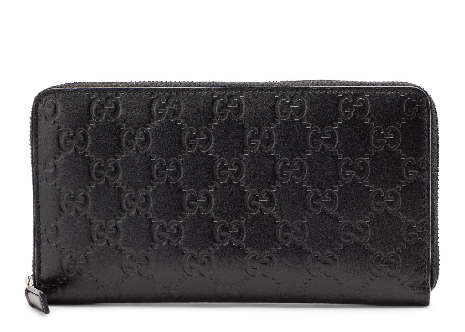 Gucci Zip Around Wallet Monogram Guccissima Black
