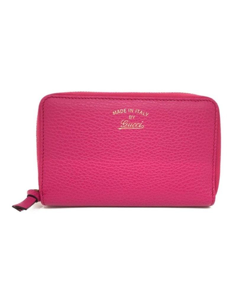 Gucci Zip Around Wallet Pink