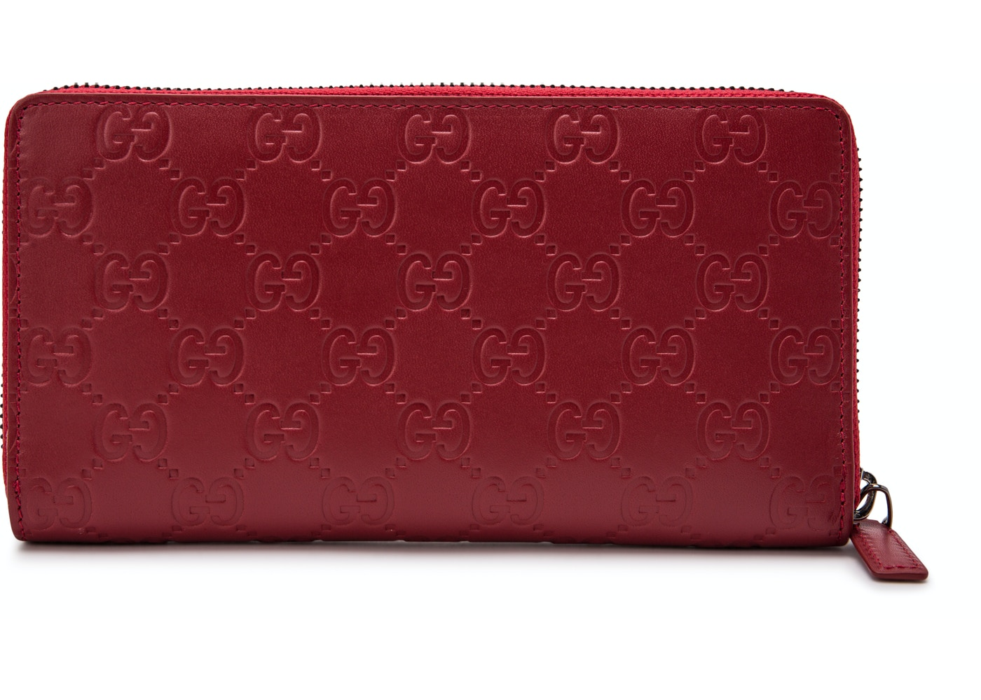3c96c0f8c66 Gucci Zip Around Wallet Signature Red