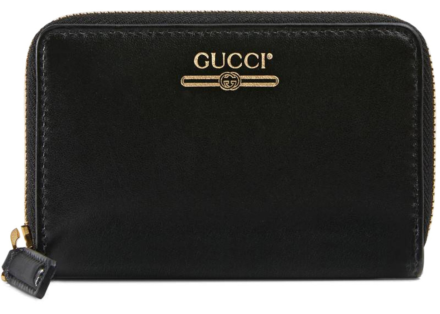 f838203ea2 Gucci Zip Card Case Gucci Logo Black