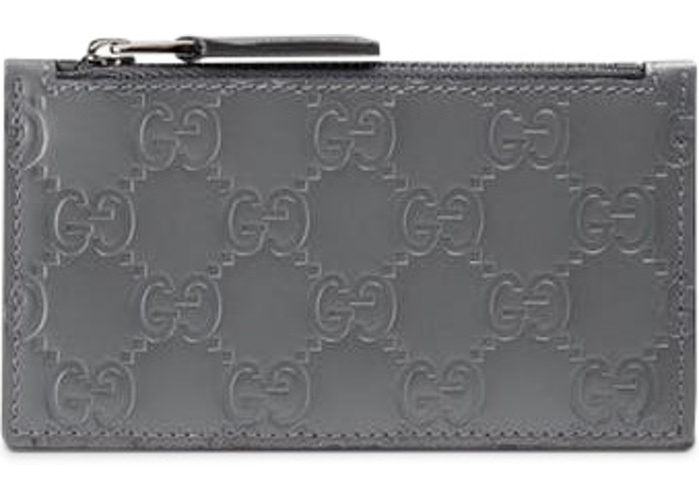 1e803f38ecc Gucci Zip Coin Pouch Card Case Guccissima Grey. Guccissima Grey