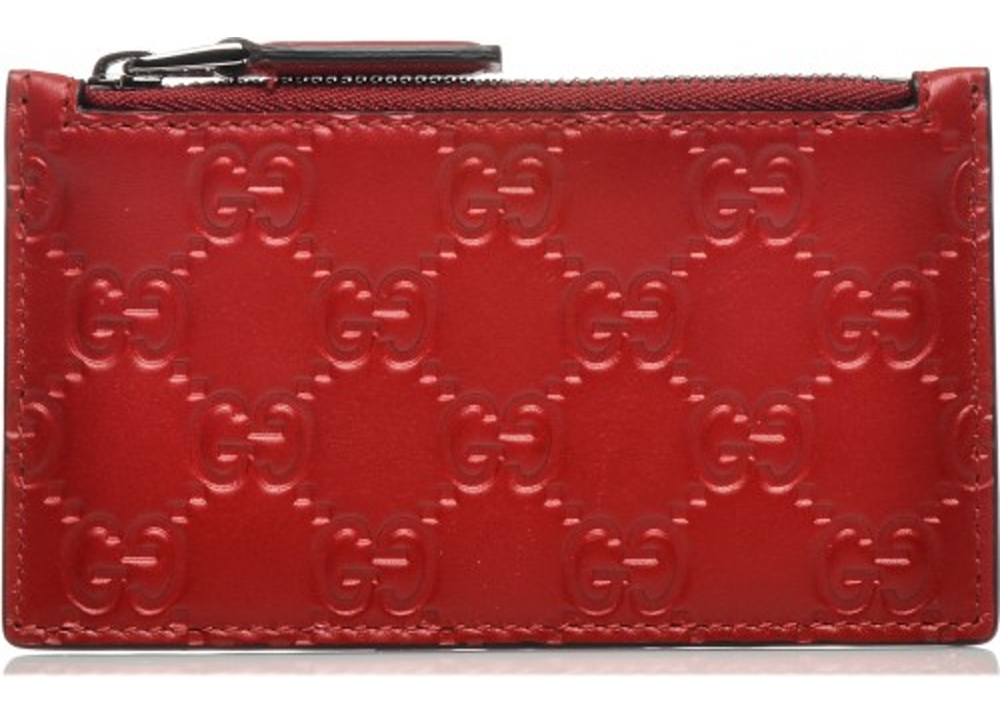 941b99ac486 Gucci Zip Coin Pouch Card Case Guccissima Red. Guccissima Red