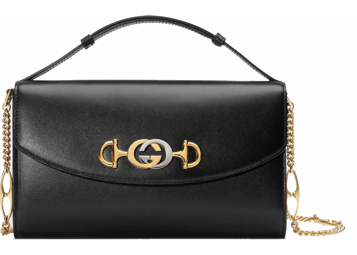 bcf127050f1 Gucci Zumi Shoulder Bag Smooth Leather Small Black. Smooth Leather Small  Black