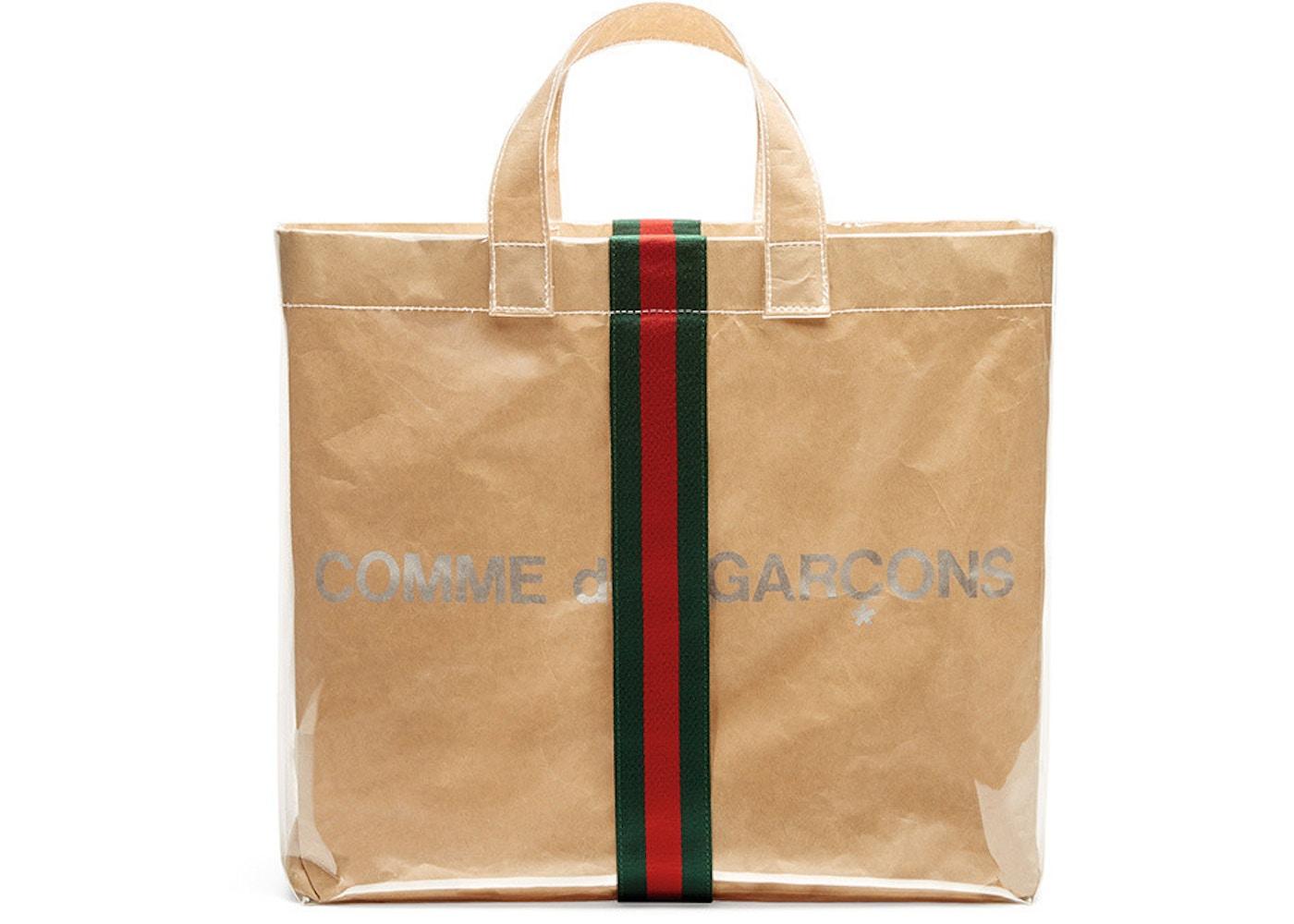street price fair price limited sale Gucci x Comme des Garcons Paper Tote Bag Vinyl Clear