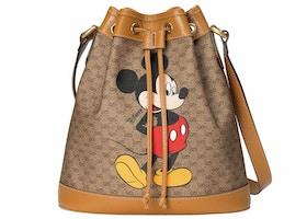Gucci x Disney Bucket Bag Mini GG Supreme Mickey Mouse Small Beige