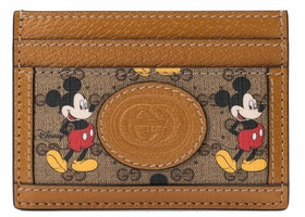 Gucci x Disney Card Case Mini GG Supreme Mickey Mouse Beige
