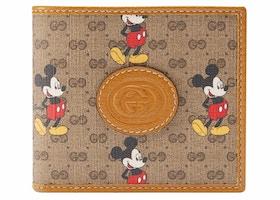 Gucci x Disney Wallet Mini GG Supreme Mickey Mouse Beige