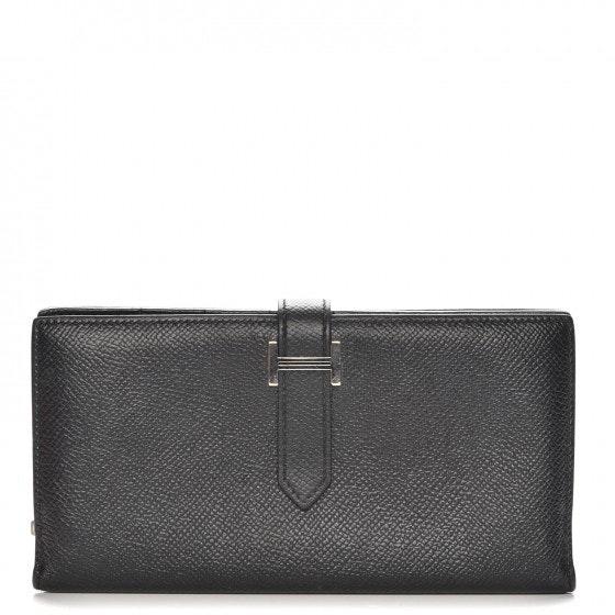 Hermes Bearn Long Wallet Epsom Noir