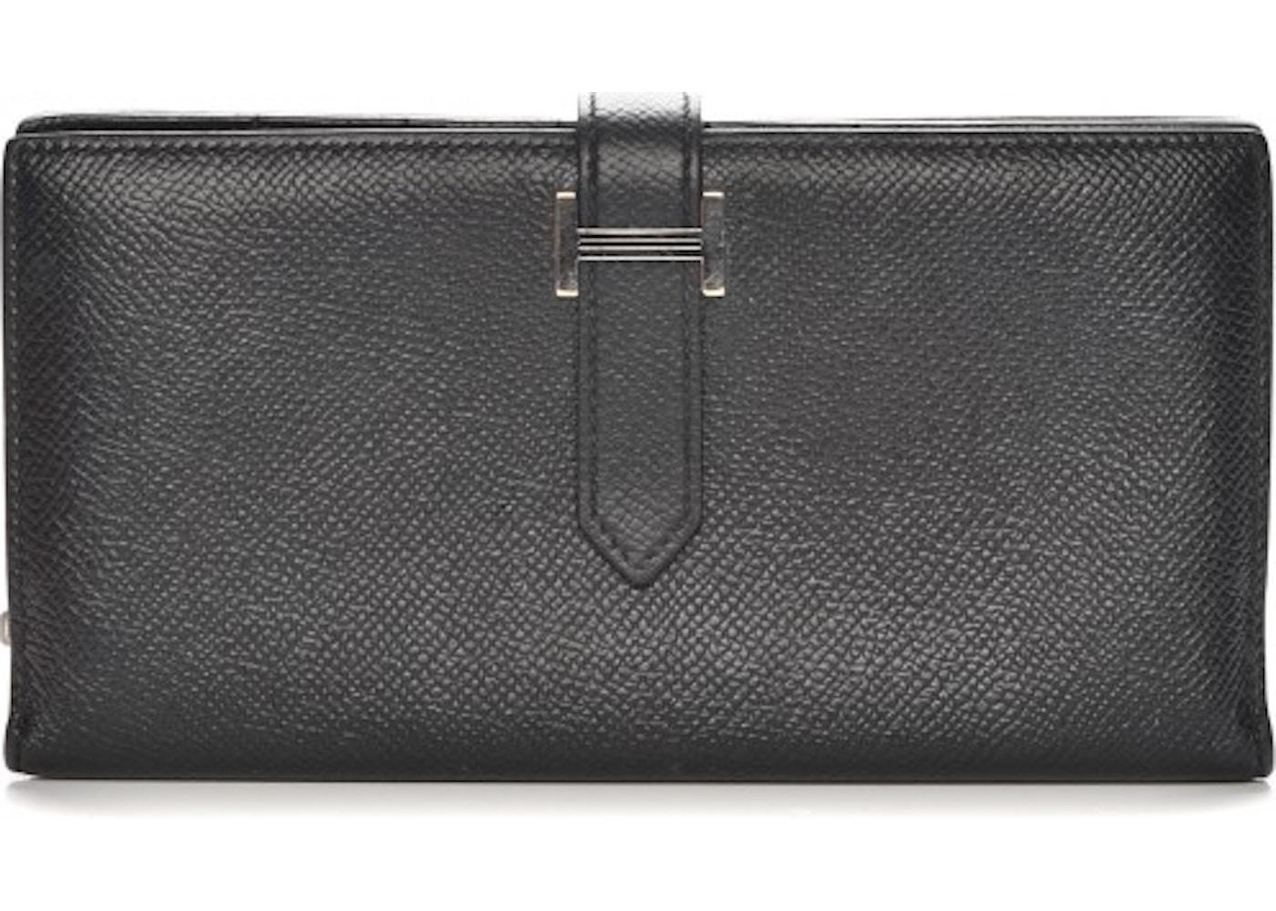 Hermes Bearn Long Wallet Epsom Noir. Epsom Noir b17b6be144216
