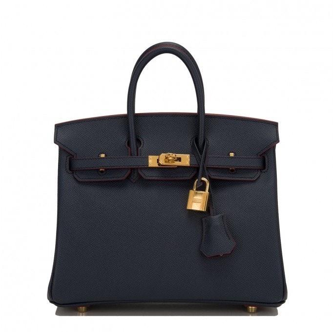 Hermes Birkin Epsom 25 Blue Indigo