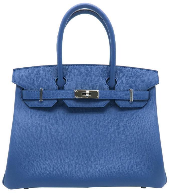 Hermes Birkin Epsom 30 Bleu Agate