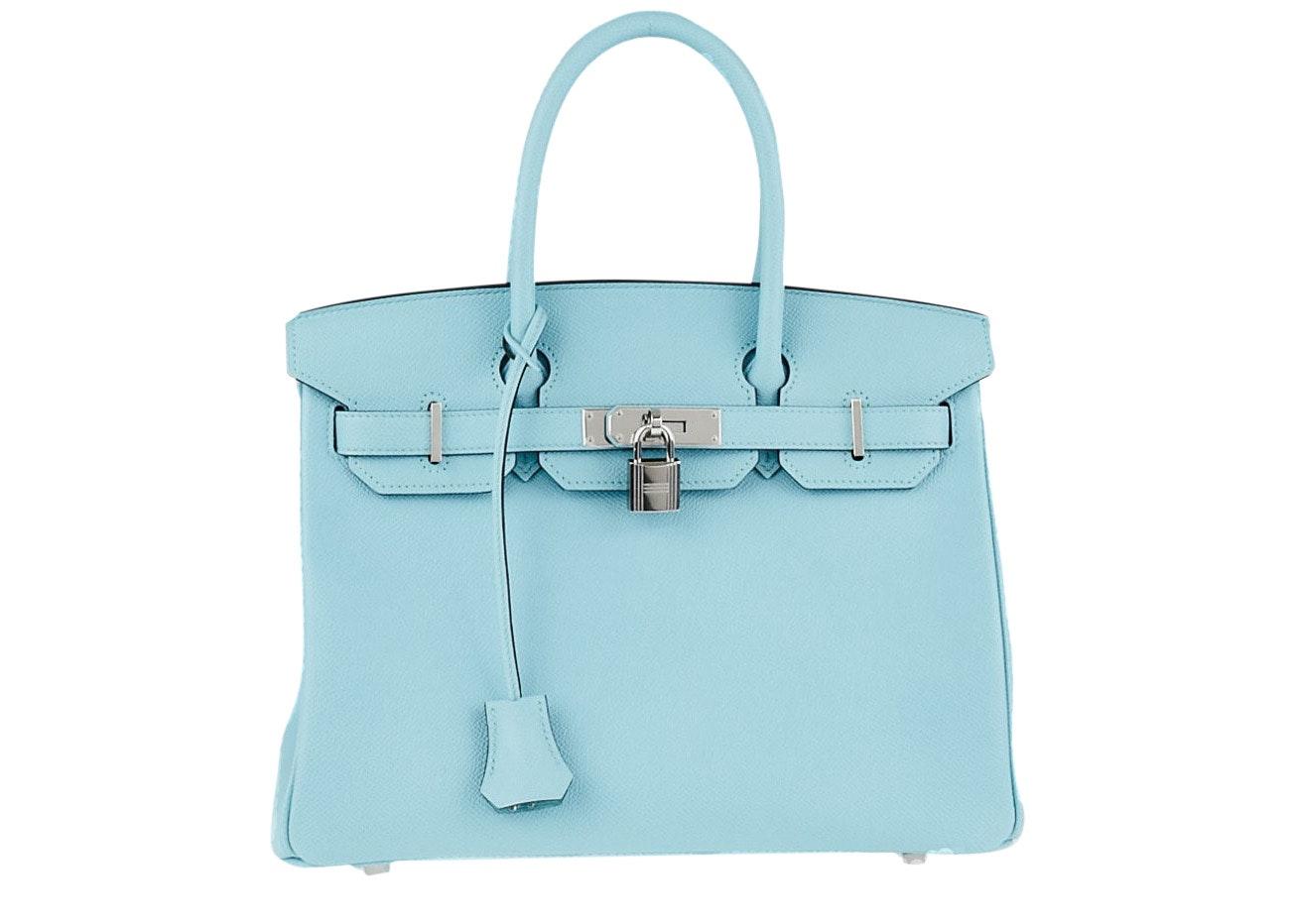 Hermes Birkin Epsom 30 Bleu Atoll