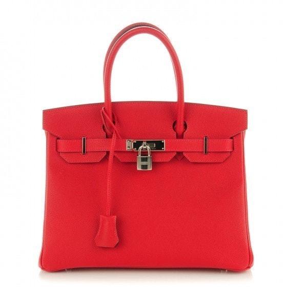 Hermes Birkin Epsom 30 Rouge Casaque