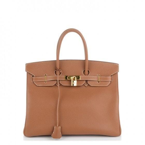 Hermes Handbag Birkin Epsom 35 Gold