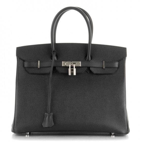 Hermes Birkin Epsom 35 Noir Black