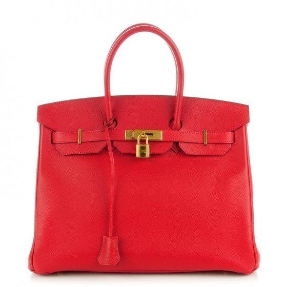 Hermes Birkin Epsom 35 Rouge Casaque