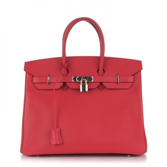 Hermes Birkin Epsom 35 Rouge Garance