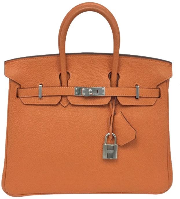 Hermes Handbag Birkin Togo 30 Orange