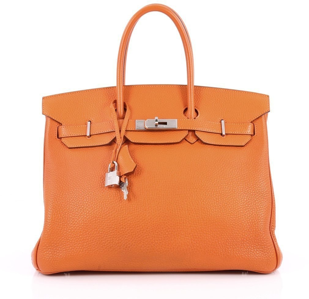 Hermes Handbag Birkin Togo 35 Orange