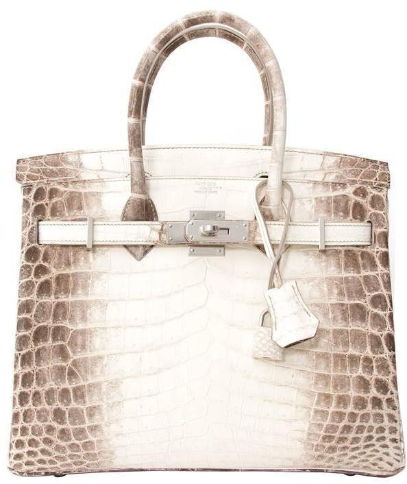 Hermes Birkin Matte Crocodile Niloticus 30 White/Brown