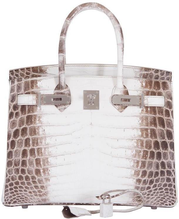 Hermes Birkin Himalayan Crocodile Matte 30 White/Brown
