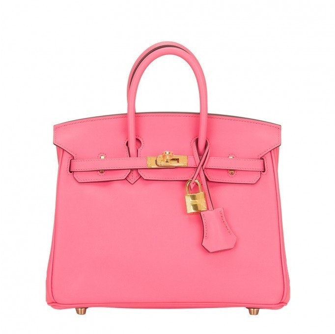 Hermes Birkin Swift 25 Rose Azalea