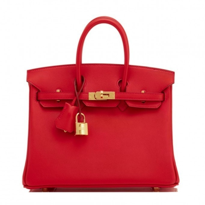 Hermes Birkin Swift 25 Vermillon