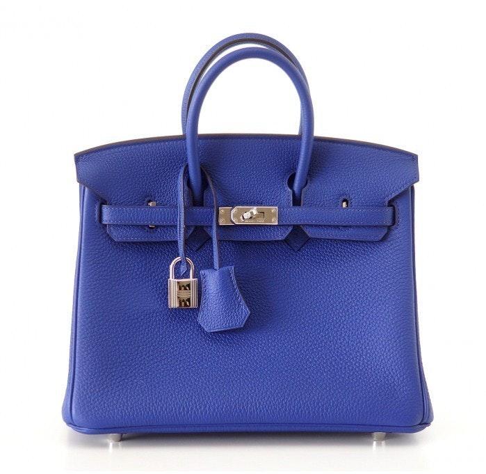 Hermes Birkin Togo 25 Bleu Electrique