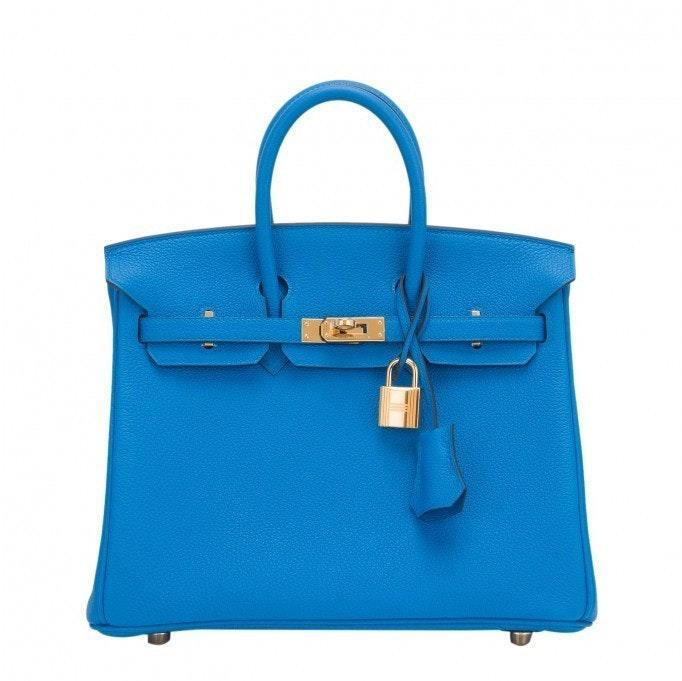 Hermes Birkin Togo 25 Blue Zanzibar