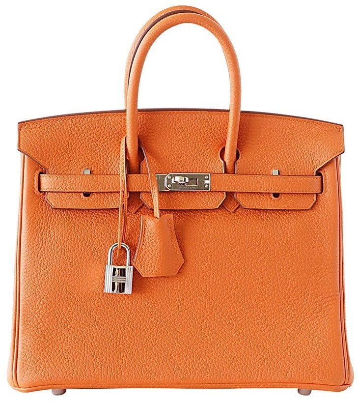 Hermes Birkin Togo 25 H Orange