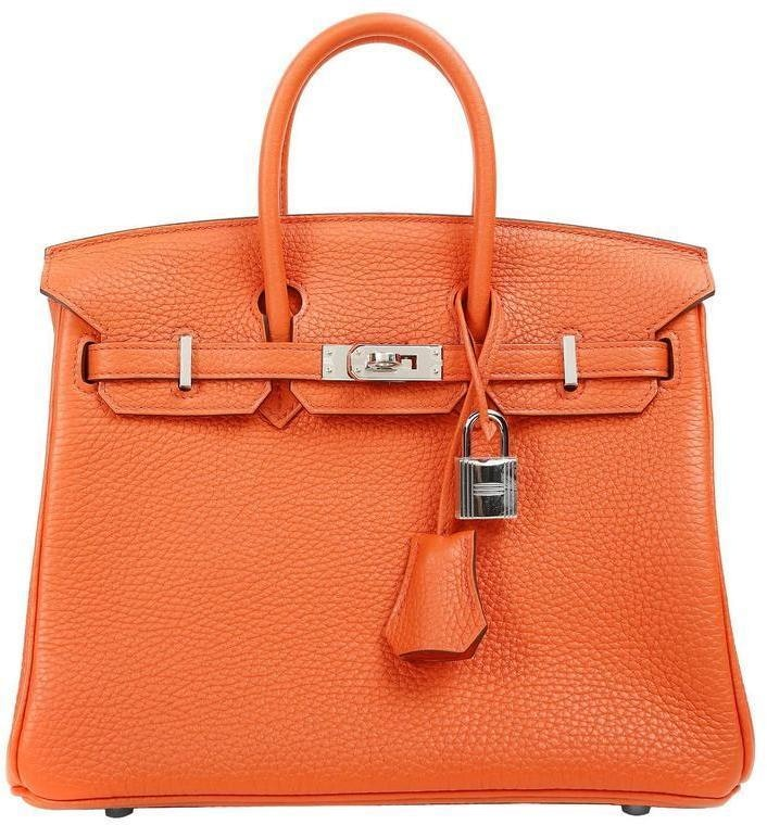 Hermes Birkin Togo 25 Orange Poppy