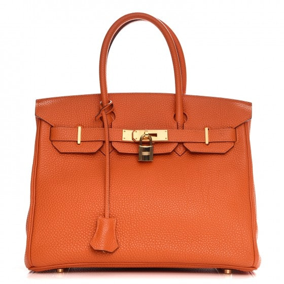 Hermes Birkin Togo 25 Orange