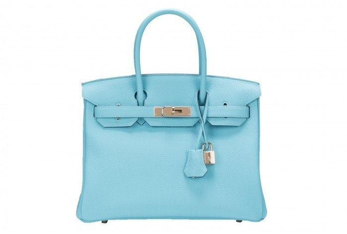 Hermes Birkin Togo 30 Blue Atoll