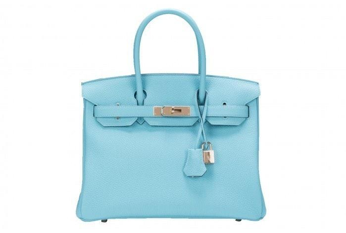Hermes Birkin Togo 30 Bleu Atoll