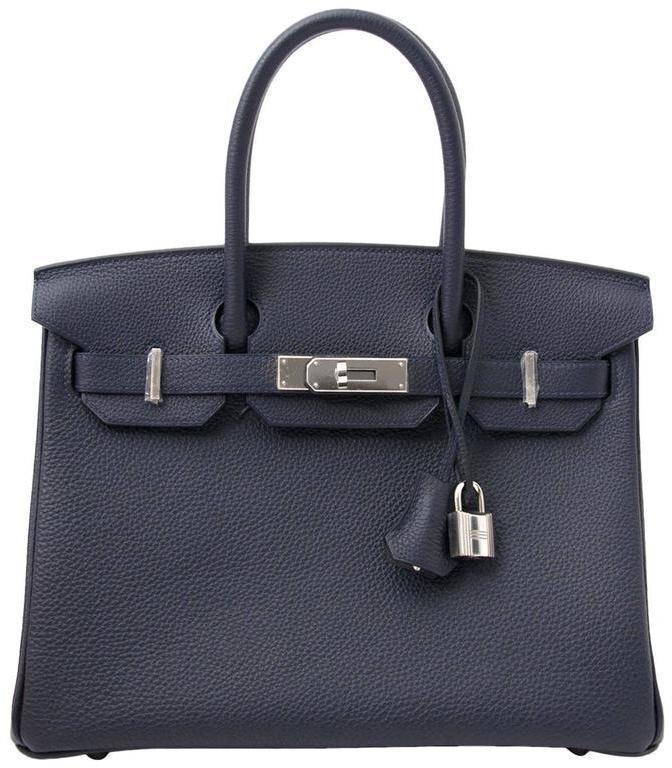 Hermes Birkin Togo 30 Blue Nuit
