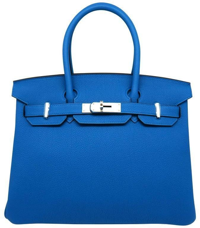 Hermes Birkin Togo 30 Blue Zanzibar