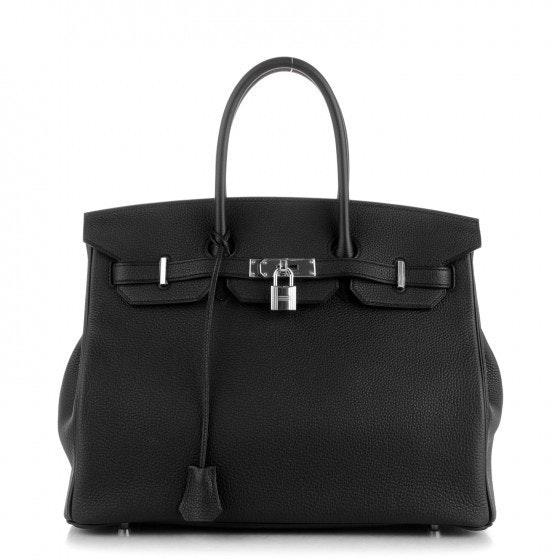 Hermes Birkin Togo 35 Noir Black