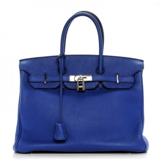 Hermes Birkin Togo 35 Bleu Electrique
