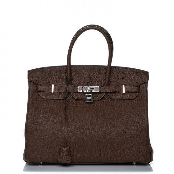 Hermes Handbag Birkin Togo 35 Brulee