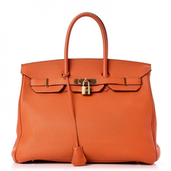 Hermes Birkin Togo 35 Orange Gold