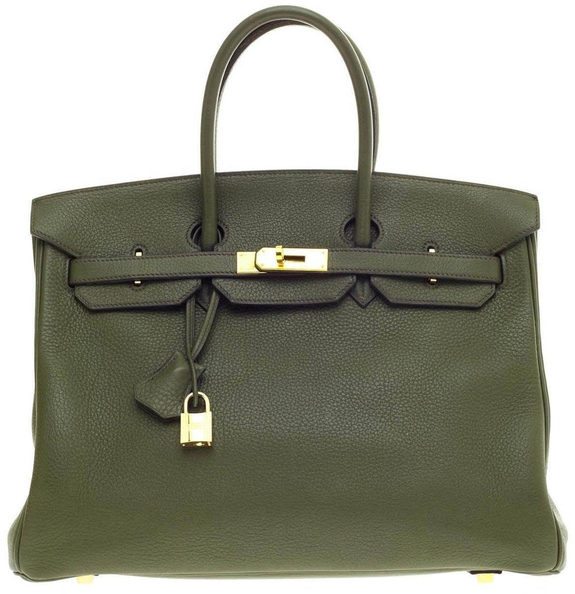 Hermes Birkin Togo 35 Vert Olive