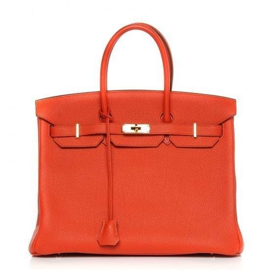 Hermes Top Handle Birkin Togo 35 Capucine