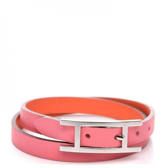 Hermes Bracelet Behapi Double Tour Reversible Swift Small