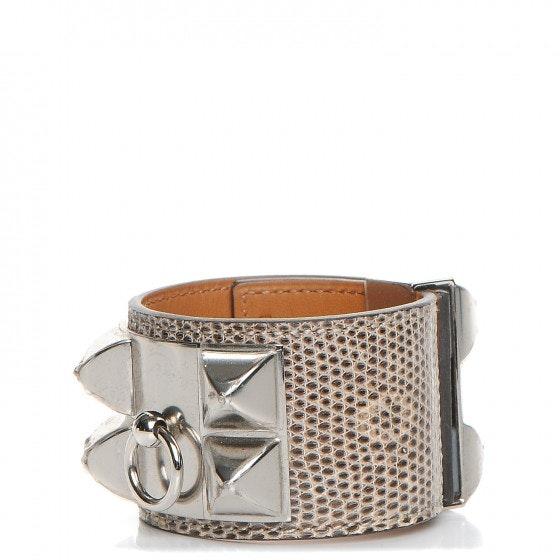 Hermes Bracelet Collier De Chien Lizard S