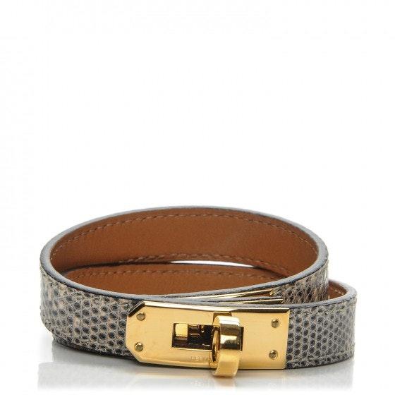 Hermes Bracelet Kelly Double Tour Lizard M