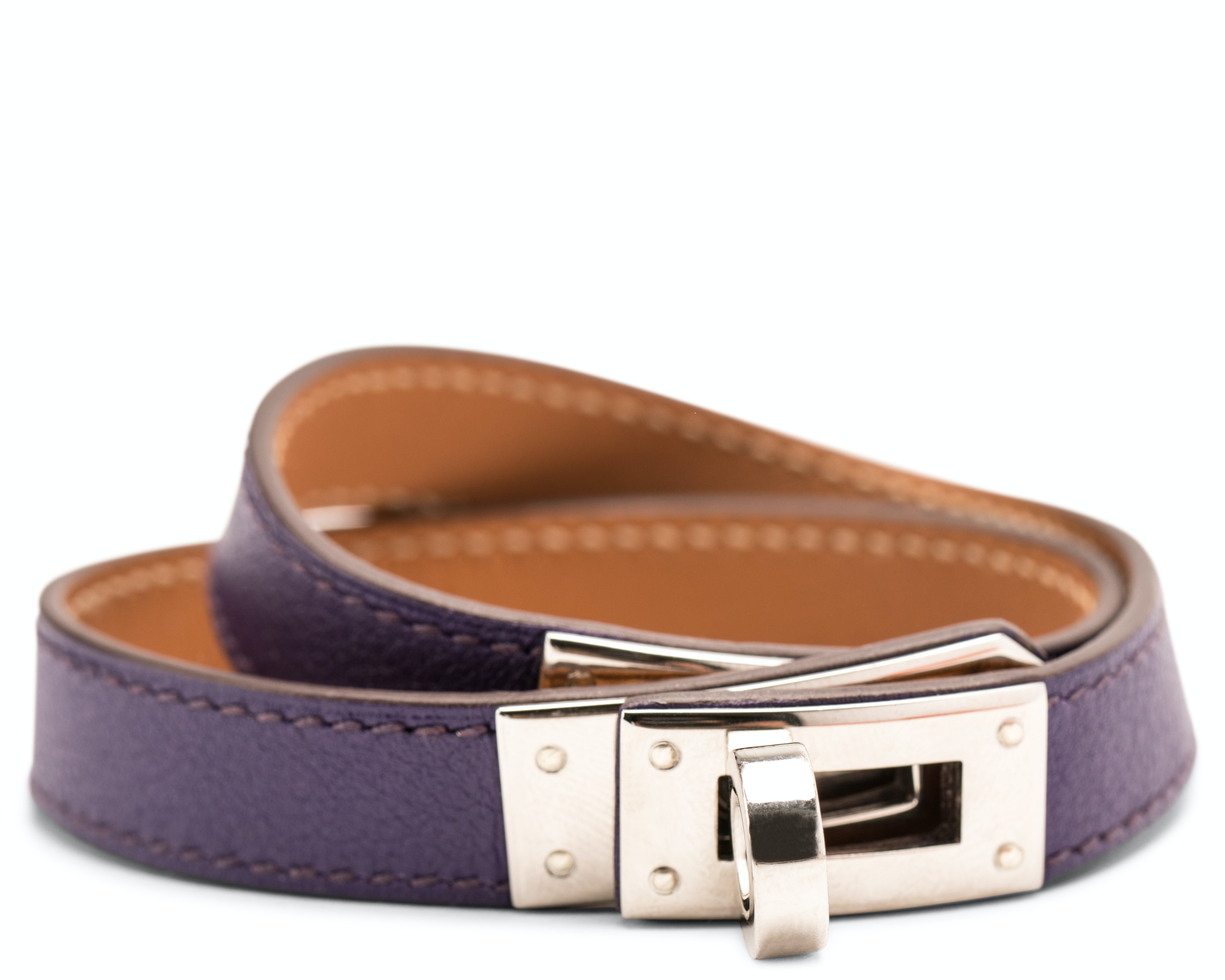 Hermes Bracelet Kelly Double Tour Swift M
