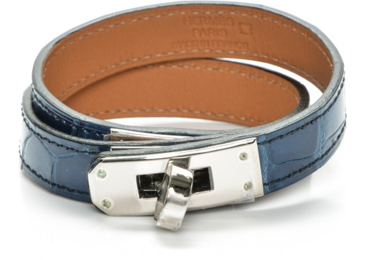 7136cd40447 Sell. or Ask. View All Bids. Hermes Bracelet Kelly Double Tour Shiny  Alligator