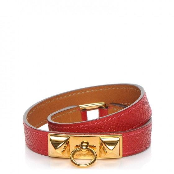 Hermes Bracelet Rivale Double Tour Epsom Small